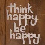 Car Sticker Think Happy Be Happy