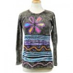 Flower Power HIppie Long Sleeve T-Shirt