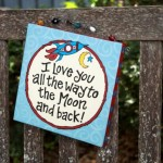 I love you to the Moon Beaded Canvas