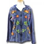 Jacket Zip Front Hippie Navy
