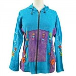 Jacket Zip Front Hippie Turquo