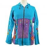 Jacket Zip Front Hippie Turquo