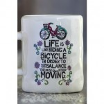Life Is Like Riding a Bicycle Art & Soul Mug