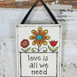 Love is all we Need Ribbon Canvas