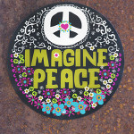 Imagine Peace Car magnet